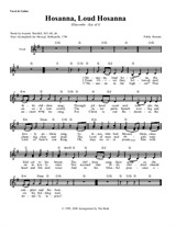 Hosanna, Loud Hosanna (Lead Sheet)