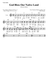 God Bless Our Native Land (guitar lead sheets)
